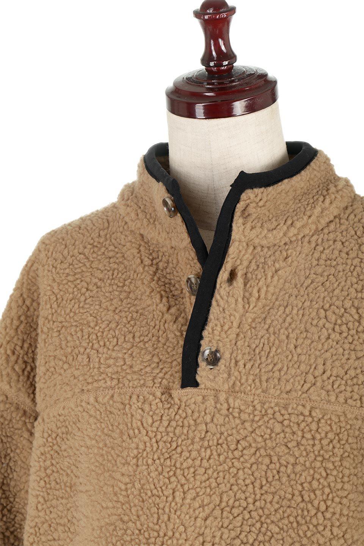 PipingDetailBoaFleeceP.O.パイピング入り・ボアフリース大人カジュアルに最適な海外ファッションのothers(その他インポートアイテム)のトップスやカットソー。今季大人気のたっぷりサイズのボアフリース。難しいことを考えずにさっと羽織ってパッと可愛くなるお気楽アイテムです。/main-15
