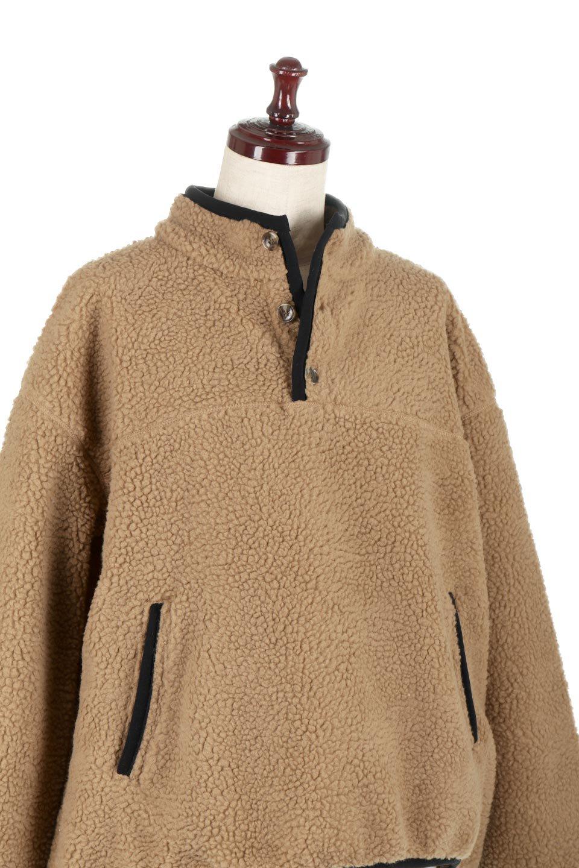 PipingDetailBoaFleeceP.O.パイピング入り・ボアフリース大人カジュアルに最適な海外ファッションのothers(その他インポートアイテム)のトップスやカットソー。今季大人気のたっぷりサイズのボアフリース。難しいことを考えずにさっと羽織ってパッと可愛くなるお気楽アイテムです。/main-16