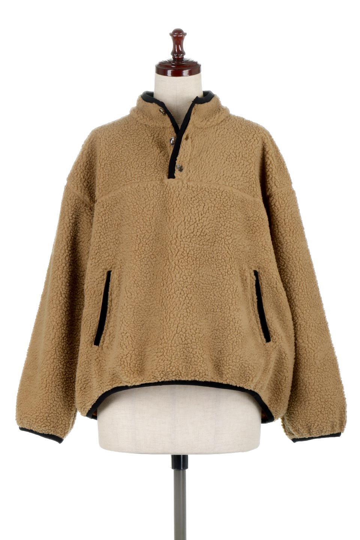 PipingDetailBoaFleeceP.O.パイピング入り・ボアフリース大人カジュアルに最適な海外ファッションのothers(その他インポートアイテム)のトップスやカットソー。今季大人気のたっぷりサイズのボアフリース。難しいことを考えずにさっと羽織ってパッと可愛くなるお気楽アイテムです。/main-5