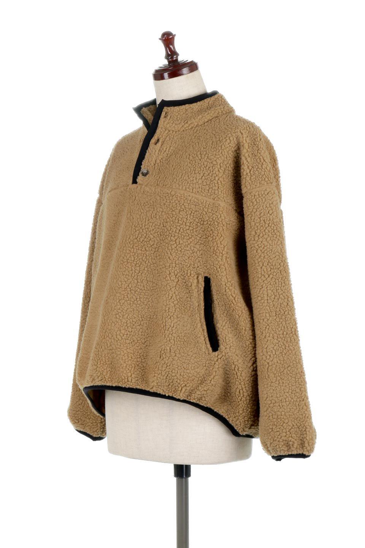 PipingDetailBoaFleeceP.O.パイピング入り・ボアフリース大人カジュアルに最適な海外ファッションのothers(その他インポートアイテム)のトップスやカットソー。今季大人気のたっぷりサイズのボアフリース。難しいことを考えずにさっと羽織ってパッと可愛くなるお気楽アイテムです。/main-6