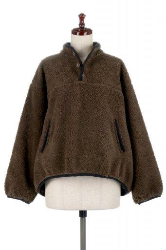 海外ファッションや大人カジュアルに最適なインポートセレクトアイテムのPiping Detail Boa Fleece P.O. パイピング入り・ボアフリース