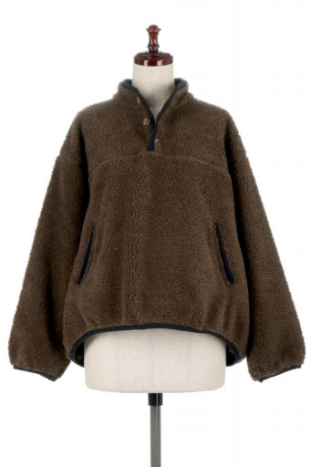 Piping Detail Boa Fleece P.O. パイピング入り・ボアフリース / 大人カジュアルに最適な海外ファッションが得意な福島市のセレクトショップbloom