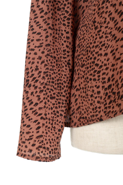 LeopardPrintedGatherNeckBlouseレオパード柄・ギャザーネックブラウス大人カジュアルに最適な海外ファッションのothers(その他インポートアイテム)のトップスやシャツ・ブラウス。様々なアウター類のインナーとして着まわせるレオパードのブラウス。もちろんブラウスだけでも可愛いデザインで、いつものコーデが華やかになります。/main-14