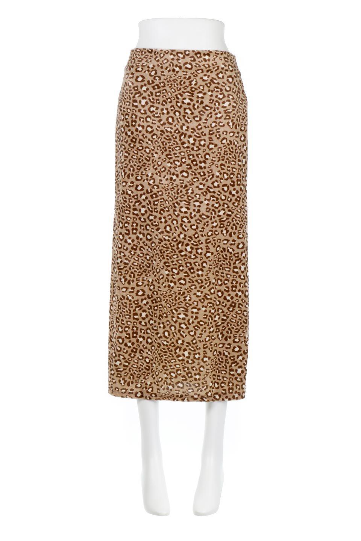 LeopardVelourSemiTightSkirtレオパード柄・ベロアタイトスカート大人カジュアルに最適な海外ファッションのothers(その他インポートアイテム)のボトムやスカート。人気のレオパード柄をベロア生地にプリントしたセミタイトスカート。ブラウン系の色展開でコーディネートのしやすさも抜群なスカートです。/main-10