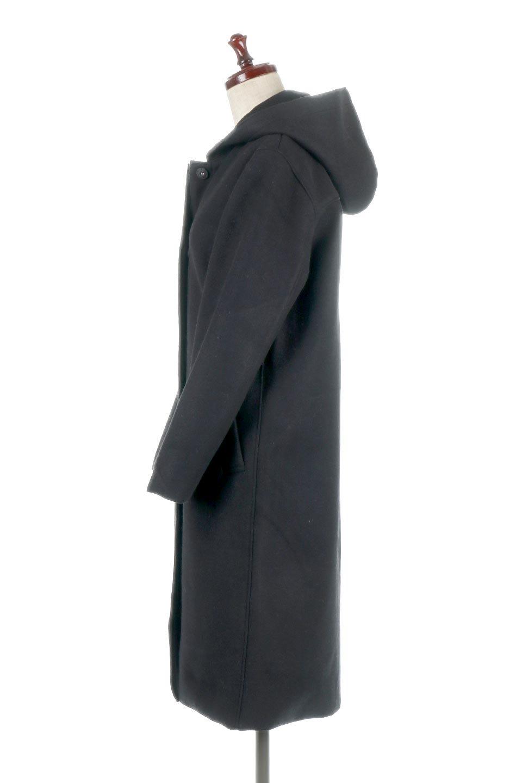 Melton&RibKnitDoubleFacedHoodCoatメルトン&リブニット・ダブルフェイスコート大人カジュアルに最適な海外ファッションのothers(その他インポートアイテム)のアウターやコート。表地メルトン×裏面リブ編みのフード付きウールコート。表地はフェルトのような高密度の綺麗な質感、表地と張り合わせた裏地には伸縮性のあるリブ編みを合わせて優しい雰囲気に見せてくれます。/main-7