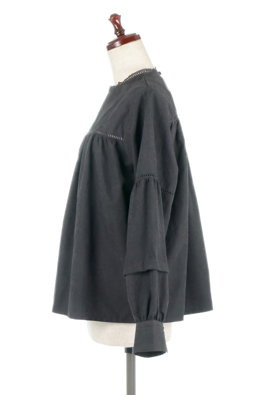 LadderLaceDetailBlouseはしごレースネック・長袖ブラウス大人カジュアルに最適な海外ファッションのothers(その他インポートアイテム)のトップスやシャツ・ブラウス。はしご状のレースでアクセントにしたパフスリーブの長袖ブラウス。たっぷり目の身幅でボディラインを隠してくれ、裾をインしてすっきりと着こなすことも可能です。/main-16