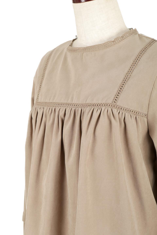 LadderLaceDetailBlouseはしごレースネック・長袖ブラウス大人カジュアルに最適な海外ファッションのothers(その他インポートアイテム)のトップスやシャツ・ブラウス。はしご状のレースでアクセントにしたパフスリーブの長袖ブラウス。たっぷり目の身幅でボディラインを隠してくれ、裾をインしてすっきりと着こなすことも可能です。/main-20