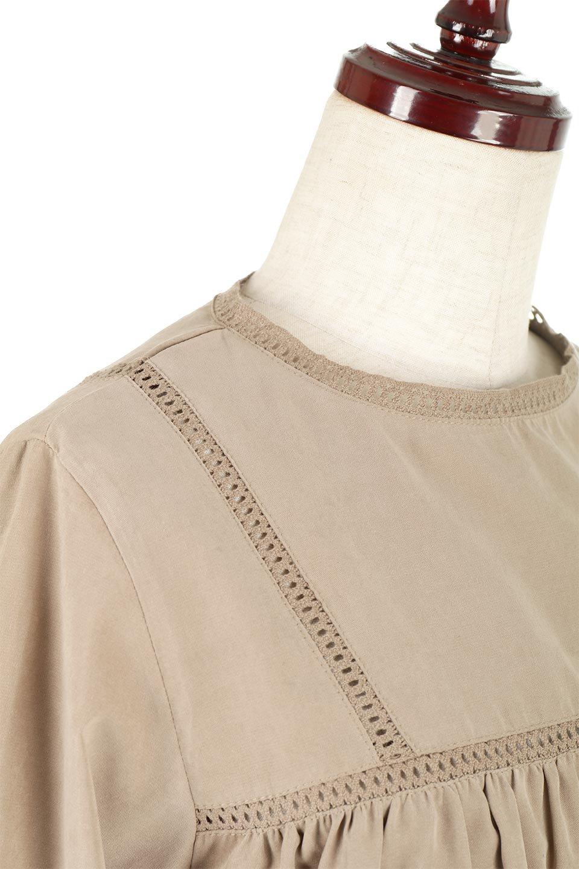 LadderLaceDetailBlouseはしごレースネック・長袖ブラウス大人カジュアルに最適な海外ファッションのothers(その他インポートアイテム)のトップスやシャツ・ブラウス。はしご状のレースでアクセントにしたパフスリーブの長袖ブラウス。たっぷり目の身幅でボディラインを隠してくれ、裾をインしてすっきりと着こなすことも可能です。/main-22