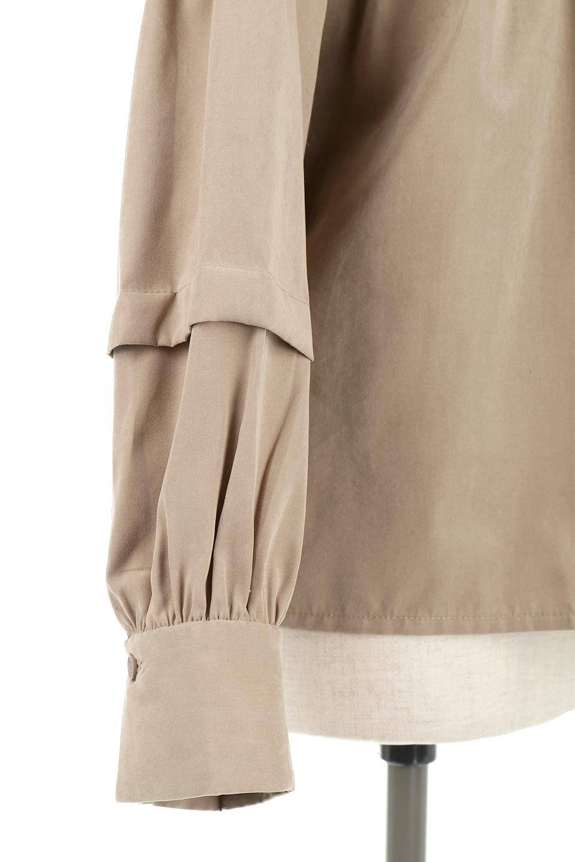 LadderLaceDetailBlouseはしごレースネック・長袖ブラウス大人カジュアルに最適な海外ファッションのothers(その他インポートアイテム)のトップスやシャツ・ブラウス。はしご状のレースでアクセントにしたパフスリーブの長袖ブラウス。たっぷり目の身幅でボディラインを隠してくれ、裾をインしてすっきりと着こなすことも可能です。/main-26