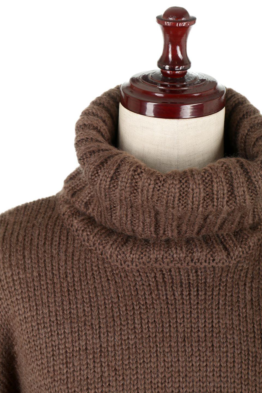 AsymmetricalBi-ColorKnitTopアシンメトリー・バイカラーニット大人カジュアルに最適な海外ファッションのothers(その他インポートアイテム)のトップスやニット・セーター。バイカラー&アシメデザインが可愛いざっくりニットのトップス。ユルめのタートルネックと袖の折り返しも◎ニットのベルトでブラウジングしても、そのままたっぷり目に着ても可愛いニットです。/main-20