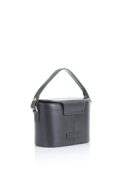 meliebiancoのAdelynn(Black)ワンハンドル・ミニハンドバッグ/海外ファッション好きにオススメのインポートバッグとかばん、MelieBianco(メリービアンコ)のバッグやハンドバッグ。パカッと開くフラップが可愛い2Wayタイプのミニバッグ。どことなくレトロな雰囲気も感じるデザインでコーデの邪魔にならないバッグです。/main-3