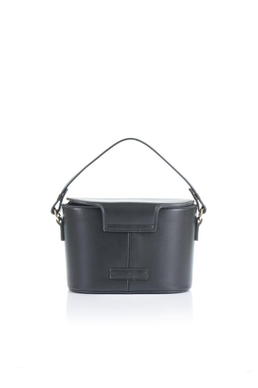 meliebiancoのAdelynn(Black)ワンハンドル・ミニハンドバッグ/海外ファッション好きにオススメのインポートバッグとかばん、MelieBianco(メリービアンコ)のバッグやハンドバッグ。パカッと開くフラップが可愛い2Wayタイプのミニバッグ。どことなくレトロな雰囲気も感じるデザインでコーデの邪魔にならないバッグです。/main-4