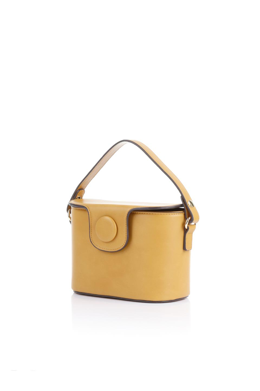 meliebiancoのAdelynn(Mustard)ワンハンドル・ミニハンドバッグ/海外ファッション好きにオススメのインポートバッグとかばん、MelieBianco(メリービアンコ)のバッグやハンドバッグ。パカッと開くフラップが可愛い2Wayタイプのミニバッグ。どことなくレトロな雰囲気も感じるデザインでコーデの邪魔にならないバッグです。/main-1