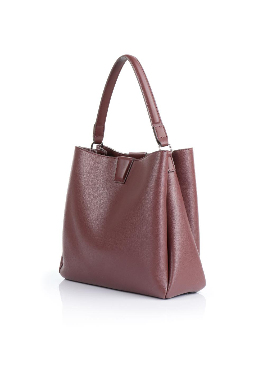 meliebiancoのMaya(Merlot)ワンハンドル・ハンドバッグ/海外ファッション好きにオススメのインポートバッグとかばん、MelieBianco(メリービアンコ)のバッグやハンドバッグ。シンプルな見た目に便利な収納のワンハンドル・ハンドバッグ。オフィスカジュアルのバッグとしてもおすすめなアイテムです。/main-1