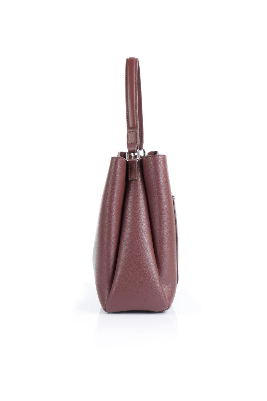 meliebiancoのMaya(Merlot)ワンハンドル・ハンドバッグ/海外ファッション好きにオススメのインポートバッグとかばん、MelieBianco(メリービアンコ)のバッグやハンドバッグ。シンプルな見た目に便利な収納のワンハンドル・ハンドバッグ。オフィスカジュアルのバッグとしてもおすすめなアイテムです。/main-2