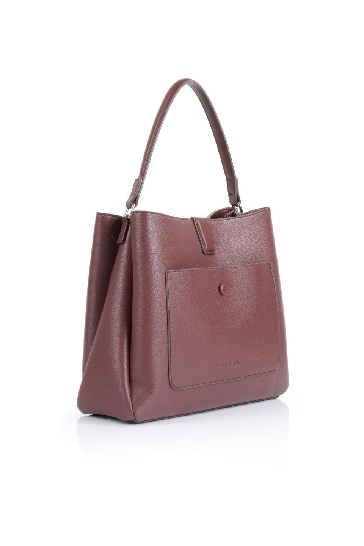 meliebiancoのMaya(Merlot)ワンハンドル・ハンドバッグ/海外ファッション好きにオススメのインポートバッグとかばん、MelieBianco(メリービアンコ)のバッグやハンドバッグ。シンプルな見た目に便利な収納のワンハンドル・ハンドバッグ。オフィスカジュアルのバッグとしてもおすすめなアイテムです。/main-3