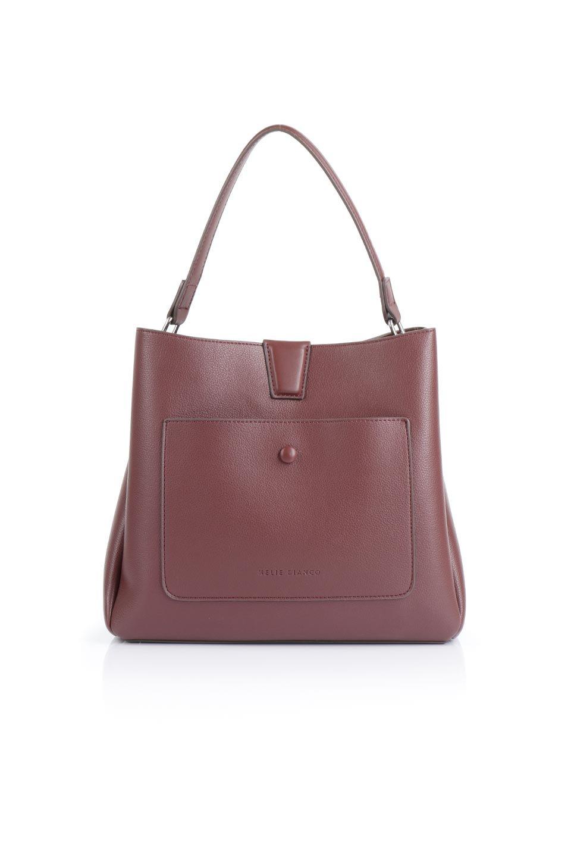 meliebiancoのMaya(Merlot)ワンハンドル・ハンドバッグ/海外ファッション好きにオススメのインポートバッグとかばん、MelieBianco(メリービアンコ)のバッグやハンドバッグ。シンプルな見た目に便利な収納のワンハンドル・ハンドバッグ。オフィスカジュアルのバッグとしてもおすすめなアイテムです。/main-4