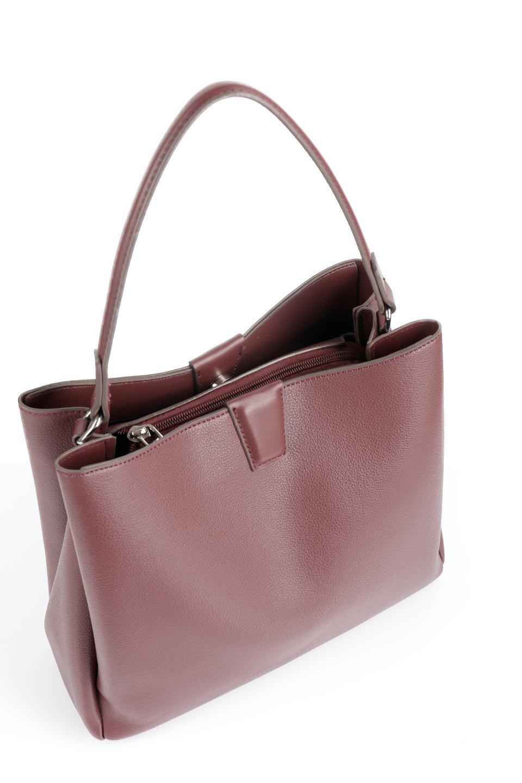 meliebiancoのMaya(Merlot)ワンハンドル・ハンドバッグ/海外ファッション好きにオススメのインポートバッグとかばん、MelieBianco(メリービアンコ)のバッグやハンドバッグ。シンプルな見た目に便利な収納のワンハンドル・ハンドバッグ。オフィスカジュアルのバッグとしてもおすすめなアイテムです。/main-5