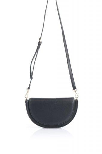 海外ファッションや大人カジュアルのためのインポートバッグ、かばんmelie bianco(メリービアンコ)のShelby (Black) 半月型・ミニショルダーバッグ