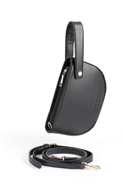 meliebiancoのRenee(Black)2Way・ショルダーバッグ/海外ファッション好きにオススメのインポートバッグとかばん、MelieBianco(メリービアンコ)のバッグやクラッチバッグ。デザインのアクセントにもなっているハンドストラップ付のミニクラッチバッグ。電子決済はフル活用、スマホとミニ財布で事足りる方に人気の小型のバッグです。/main-11