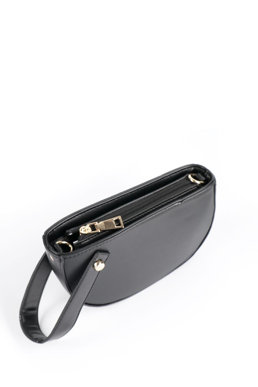 meliebiancoのRenee(Black)2Way・ショルダーバッグ/海外ファッション好きにオススメのインポートバッグとかばん、MelieBianco(メリービアンコ)のバッグやクラッチバッグ。デザインのアクセントにもなっているハンドストラップ付のミニクラッチバッグ。電子決済はフル活用、スマホとミニ財布で事足りる方に人気の小型のバッグです。/main-7
