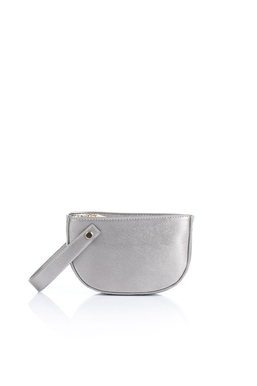 meliebiancoのRenee(Pewter)2Way・ショルダーバッグ/海外ファッション好きにオススメのインポートバッグとかばん、MelieBianco(メリービアンコ)のバッグやクラッチバッグ。デザインのアクセントにもなっているハンドストラップ付のミニクラッチバッグ。電子決済はフル活用、スマホとミニ財布で事足りる方に人気の小型のバッグです。