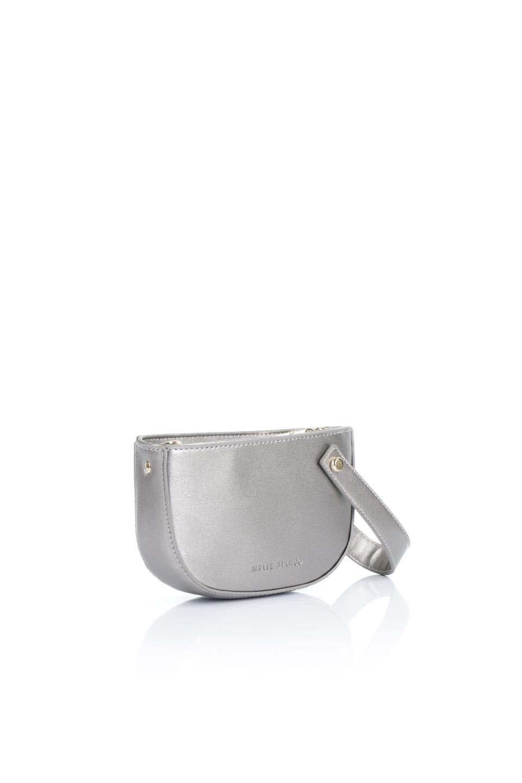 meliebiancoのRenee(Pewter)2Way・ショルダーバッグ/海外ファッション好きにオススメのインポートバッグとかばん、MelieBianco(メリービアンコ)のバッグやクラッチバッグ。デザインのアクセントにもなっているハンドストラップ付のミニクラッチバッグ。電子決済はフル活用、スマホとミニ財布で事足りる方に人気の小型のバッグです。/main-3