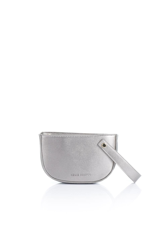 meliebiancoのRenee(Pewter)2Way・ショルダーバッグ/海外ファッション好きにオススメのインポートバッグとかばん、MelieBianco(メリービアンコ)のバッグやクラッチバッグ。デザインのアクセントにもなっているハンドストラップ付のミニクラッチバッグ。電子決済はフル活用、スマホとミニ財布で事足りる方に人気の小型のバッグです。/main-4