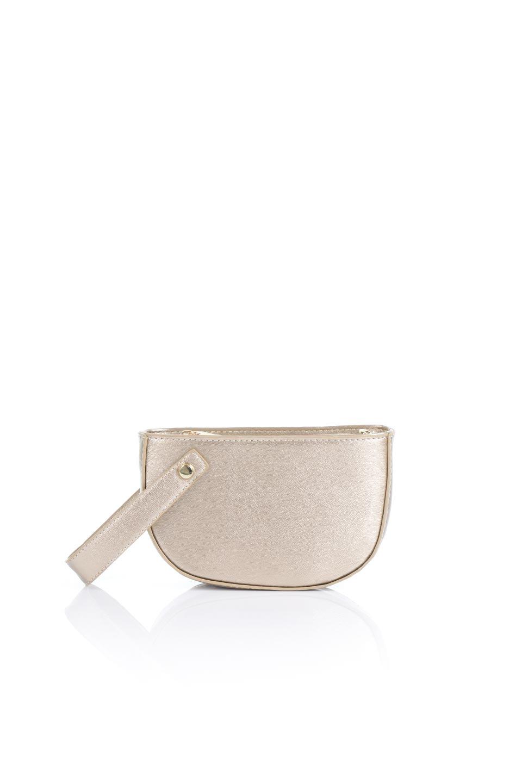 meliebiancoのRenee(Gold)2Way・ショルダーバッグ/海外ファッション好きにオススメのインポートバッグとかばん、MelieBianco(メリービアンコ)のバッグやクラッチバッグ。デザインのアクセントにもなっているハンドストラップ付のミニクラッチバッグ。電子決済はフル活用、スマホとミニ財布で事足りる方に人気の小型のバッグです。
