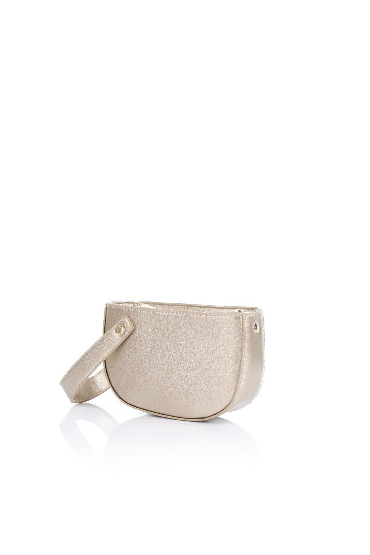 meliebiancoのRenee(Gold)2Way・ショルダーバッグ/海外ファッション好きにオススメのインポートバッグとかばん、MelieBianco(メリービアンコ)のバッグやクラッチバッグ。デザインのアクセントにもなっているハンドストラップ付のミニクラッチバッグ。電子決済はフル活用、スマホとミニ財布で事足りる方に人気の小型のバッグです。/main-1