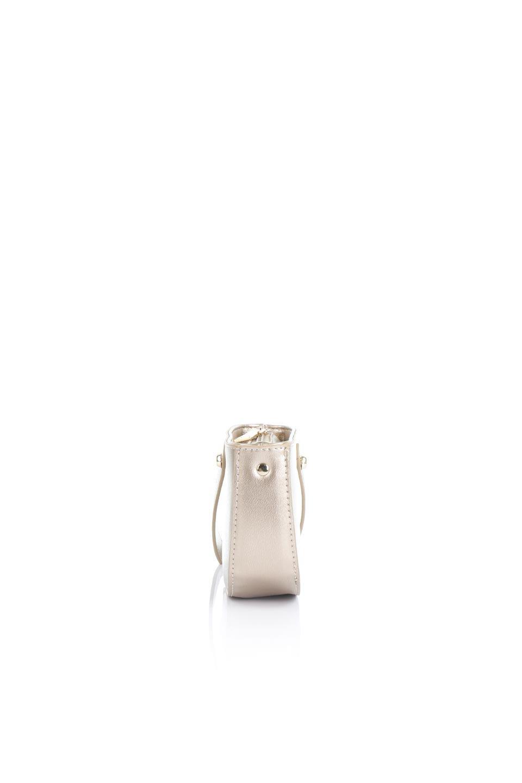 meliebiancoのRenee(Gold)2Way・ショルダーバッグ/海外ファッション好きにオススメのインポートバッグとかばん、MelieBianco(メリービアンコ)のバッグやクラッチバッグ。デザインのアクセントにもなっているハンドストラップ付のミニクラッチバッグ。電子決済はフル活用、スマホとミニ財布で事足りる方に人気の小型のバッグです。/main-2