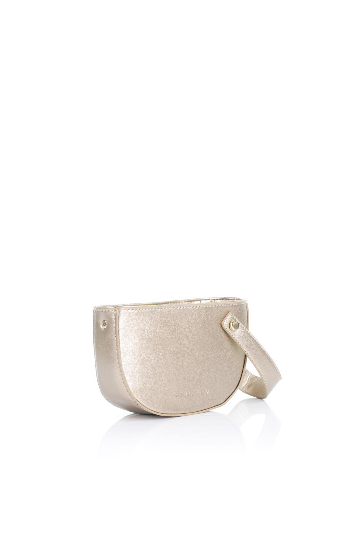 meliebiancoのRenee(Gold)2Way・ショルダーバッグ/海外ファッション好きにオススメのインポートバッグとかばん、MelieBianco(メリービアンコ)のバッグやクラッチバッグ。デザインのアクセントにもなっているハンドストラップ付のミニクラッチバッグ。電子決済はフル活用、スマホとミニ財布で事足りる方に人気の小型のバッグです。/main-3
