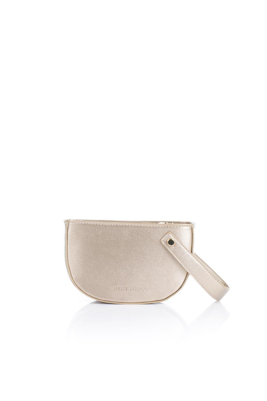 meliebiancoのRenee(Gold)2Way・ショルダーバッグ/海外ファッション好きにオススメのインポートバッグとかばん、MelieBianco(メリービアンコ)のバッグやクラッチバッグ。デザインのアクセントにもなっているハンドストラップ付のミニクラッチバッグ。電子決済はフル活用、スマホとミニ財布で事足りる方に人気の小型のバッグです。/main-4