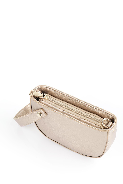 meliebiancoのRenee(Gold)2Way・ショルダーバッグ/海外ファッション好きにオススメのインポートバッグとかばん、MelieBianco(メリービアンコ)のバッグやクラッチバッグ。デザインのアクセントにもなっているハンドストラップ付のミニクラッチバッグ。電子決済はフル活用、スマホとミニ財布で事足りる方に人気の小型のバッグです。/main-9