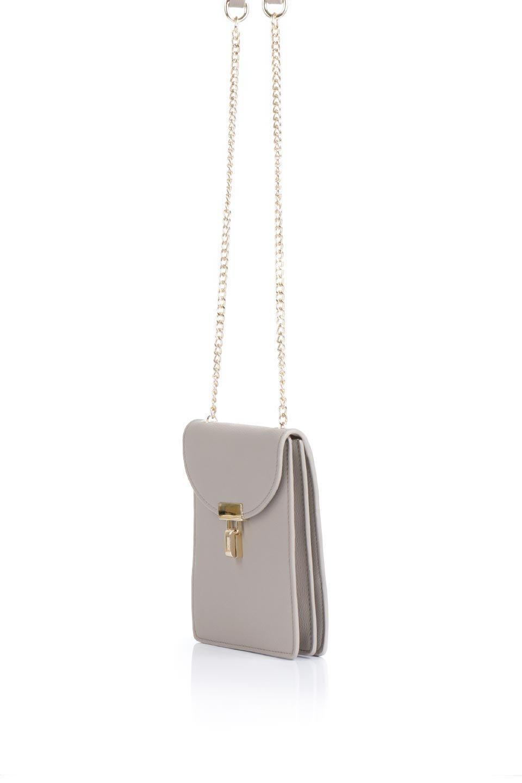 meliebiancoのNina(Taupe)スリムポケット・ショルダーバッグ/海外ファッション好きにオススメのインポートバッグとかばん、MelieBianco(メリービアンコ)のバッグやハンドバッグ。スリムなシルエットのミニショルダーバッグ。アコーディオンタイプのポケットなので、スリムでありながら見た目以上の収納力があるポーチです。/main-1