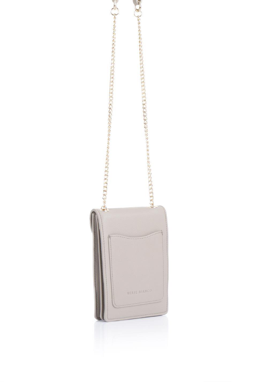 meliebiancoのNina(Taupe)スリムポケット・ショルダーバッグ/海外ファッション好きにオススメのインポートバッグとかばん、MelieBianco(メリービアンコ)のバッグやハンドバッグ。スリムなシルエットのミニショルダーバッグ。アコーディオンタイプのポケットなので、スリムでありながら見た目以上の収納力があるポーチです。/main-3