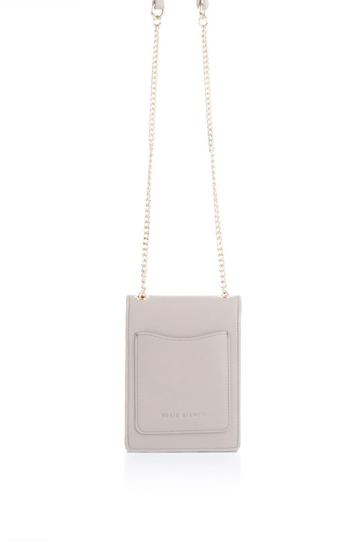 meliebiancoのNina(Taupe)スリムポケット・ショルダーバッグ/海外ファッション好きにオススメのインポートバッグとかばん、MelieBianco(メリービアンコ)のバッグやハンドバッグ。スリムなシルエットのミニショルダーバッグ。アコーディオンタイプのポケットなので、スリムでありながら見た目以上の収納力があるポーチです。/main-4