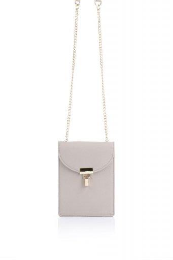 海外ファッションや大人カジュアルのためのインポートバッグ、かばんmelie bianco(メリービアンコ)のNina (Taupe) スリムポケット・ショルダーバッグ