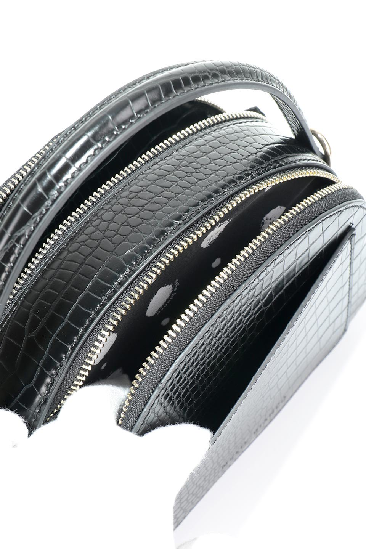 meliebiancoのCalvin(Black)型押しクロコダイル・ワンハンドルバッグ/海外ファッション好きにオススメのインポートバッグとかばん、MelieBianco(メリービアンコ)のバッグやハンドバッグ。上品な光沢を帯びたクロコダイルの型押しが素敵なミニハンドバッグ。芯入りのハンドルはしっくりと手になじむような質感。/main-12