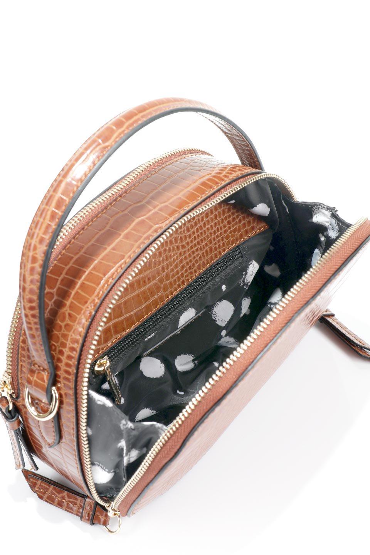 meliebiancoのCalvin(Saddle)型押しクロコダイル・ワンハンドルバッグ/海外ファッション好きにオススメのインポートバッグとかばん、MelieBianco(メリービアンコ)のバッグやハンドバッグ。上品な光沢を帯びたクロコダイルの型押しが素敵なミニハンドバッグ。芯入りのハンドルはしっくりと手になじむような質感。/main-11