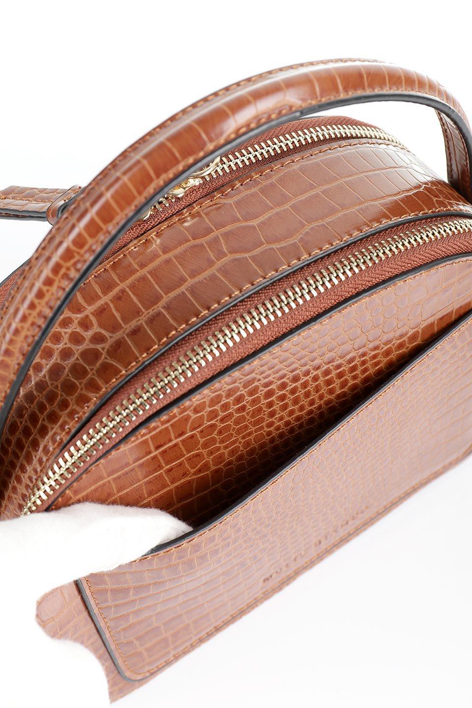 meliebiancoのCalvin(Saddle)型押しクロコダイル・ワンハンドルバッグ/海外ファッション好きにオススメのインポートバッグとかばん、MelieBianco(メリービアンコ)のバッグやハンドバッグ。上品な光沢を帯びたクロコダイルの型押しが素敵なミニハンドバッグ。芯入りのハンドルはしっくりと手になじむような質感。/main-8