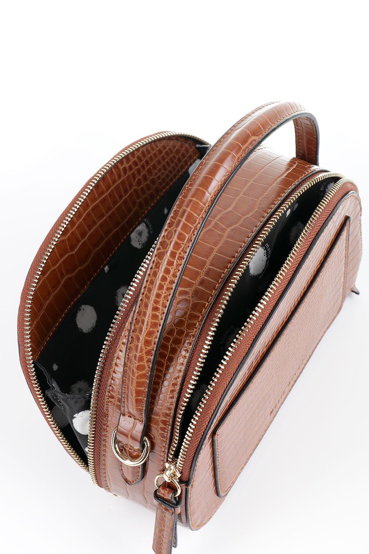 meliebiancoのCalvin(Saddle)型押しクロコダイル・ワンハンドルバッグ/海外ファッション好きにオススメのインポートバッグとかばん、MelieBianco(メリービアンコ)のバッグやハンドバッグ。上品な光沢を帯びたクロコダイルの型押しが素敵なミニハンドバッグ。芯入りのハンドルはしっくりと手になじむような質感。/main-9