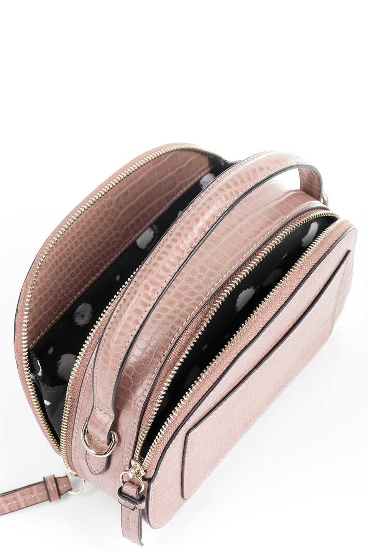 meliebiancoのCalvin(Blush)型押しクロコダイル・ワンハンドルバッグ/海外ファッション好きにオススメのインポートバッグとかばん、MelieBianco(メリービアンコ)のバッグやハンドバッグ。上品な光沢を帯びたクロコダイルの型押しが素敵なミニハンドバッグ。芯入りのハンドルはしっくりと手になじむような質感。/main-10