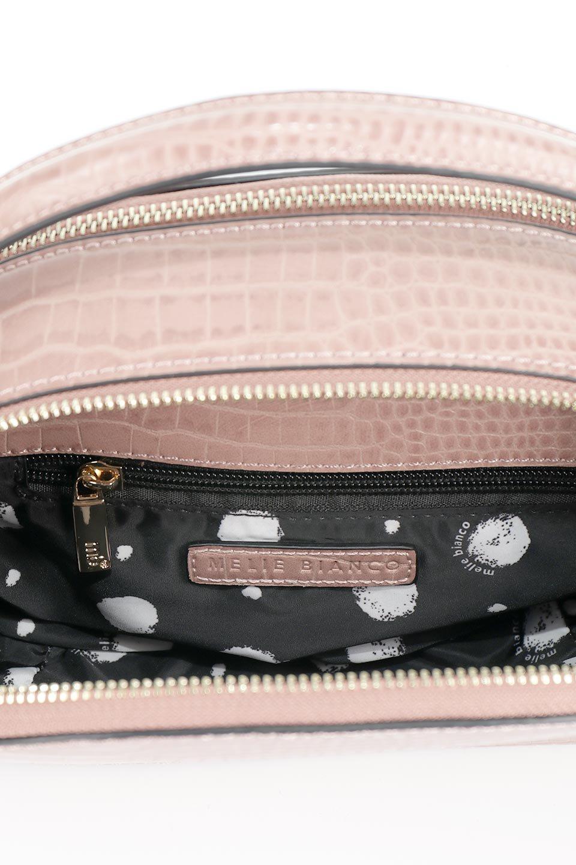 meliebiancoのCalvin(Blush)型押しクロコダイル・ワンハンドルバッグ/海外ファッション好きにオススメのインポートバッグとかばん、MelieBianco(メリービアンコ)のバッグやハンドバッグ。上品な光沢を帯びたクロコダイルの型押しが素敵なミニハンドバッグ。芯入りのハンドルはしっくりと手になじむような質感。/main-11