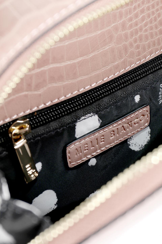 meliebiancoのCalvin(Blush)型押しクロコダイル・ワンハンドルバッグ/海外ファッション好きにオススメのインポートバッグとかばん、MelieBianco(メリービアンコ)のバッグやハンドバッグ。上品な光沢を帯びたクロコダイルの型押しが素敵なミニハンドバッグ。芯入りのハンドルはしっくりと手になじむような質感。/main-12