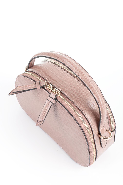 meliebiancoのCalvin(Blush)型押しクロコダイル・ワンハンドルバッグ/海外ファッション好きにオススメのインポートバッグとかばん、MelieBianco(メリービアンコ)のバッグやハンドバッグ。上品な光沢を帯びたクロコダイルの型押しが素敵なミニハンドバッグ。芯入りのハンドルはしっくりと手になじむような質感。/main-8
