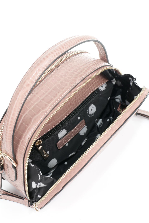 meliebiancoのCalvin(Blush)型押しクロコダイル・ワンハンドルバッグ/海外ファッション好きにオススメのインポートバッグとかばん、MelieBianco(メリービアンコ)のバッグやハンドバッグ。上品な光沢を帯びたクロコダイルの型押しが素敵なミニハンドバッグ。芯入りのハンドルはしっくりと手になじむような質感。/main-9