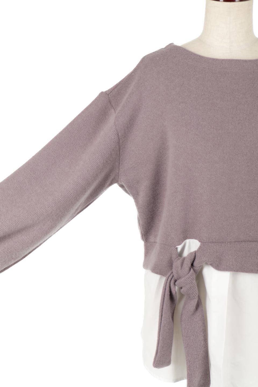 FauxLayeredKnitTopフェイクレイヤード・ニットトップス大人カジュアルに最適な海外ファッションのothers(その他インポートアイテム)のトップスやカットソー。ニットとシャツのフェイクレイヤードが可愛いトップス。ソフトなニットとブロードシャツのコンビネーションで早くも春を感じさせる軽い仕上がりのトップスです。/main-18