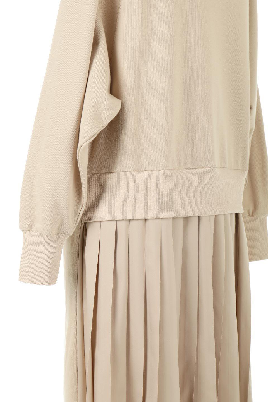 BackPleatedLongDressバックプリーツ・長袖マキシワンピース大人カジュアルに最適な海外ファッションのothers(その他インポートアイテム)のワンピースやマキシワンピース。プリーツの切り替えがとても可愛い長袖のマキシワンピース。ドルマンスリーブのゆったり感と細身のシルエットでスラっと見える大人気ワンピ。/main-16