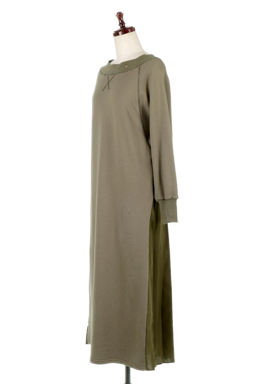 BackPleatedLongDressバックプリーツ・長袖マキシワンピース大人カジュアルに最適な海外ファッションのothers(その他インポートアイテム)のワンピースやマキシワンピース。プリーツの切り替えがとても可愛い長袖のマキシワンピース。ドルマンスリーブのゆったり感と細身のシルエットでスラっと見える大人気ワンピ。/main-6